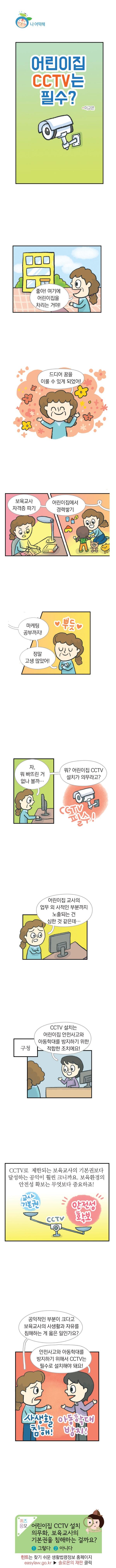 <법나들이 2018년 9월> 어린이집 CCTV는 필수?